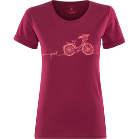 Triple2 Laag Bike T-Shirt Dam beet red